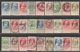 België.  Leopold II,  Grosse Barbe, 65 Verschillende Perfins - Perfins