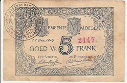 Gemeente Maldegem - 1914 - Biljet Goed Voor 5 Frank - Oost-Vlaanderen - WOI - 5-10-20-25 Francs