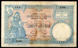 Serbia,1893,10 Dinara,P. 10,as Scan - Serbia