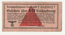 Billet 10 Reichspfennig - Kriegsgefangenen - Lagergeld | Oorlog 40/45 - Guerre | Krijgsgevangene, Prisonnier - 1939-45