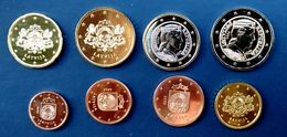 2020 Latvia Lettland Lettonia 1CENT  TO 2 EURO Münzen All Satz / Full Set UNC - Lettonie