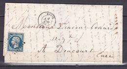 D168/ NAPOLEON N° 14 SUR LETTRE - 1853-1860 Napoléon III