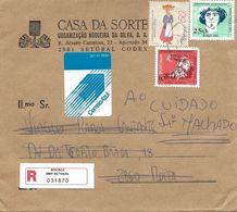 TIMBRES - STAMP - LETTRE RECOMMANDÉ POSTE BLEU - MARCOPHILIE - PORTUGAL - NAVEGATEUR DIOGO CÃO ET AUTRES TIMBRES - 1910 - ... Repubblica