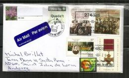 COVID19/ CORONAVIRUS.Lettre Du CANADA Envoyée ANDORRA, Pendant LOCKDOWN,avec Vignette Locale STAY HOME/QUEDA'T A CASA - Abarten Und Kuriositäten