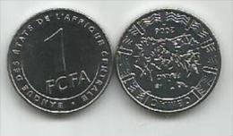 Banque Des Etats De L`Afrique Centrale Bank Of Central African States 1  Franc  2006. UNC FCFA - Münzen