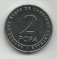Banque Des Etats De L`Afrique Centrale Bank Of Central African States 2  Francs  2006. UNC FCFA - Münzen