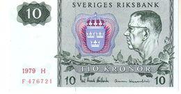 Sweden P.52 10 Kroner  1979 Unc - Suède