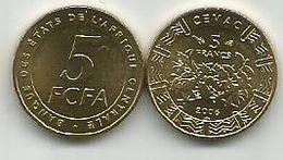 Banque Des Etats De L`Afrique Centrale Bank Of Central African States 5  Francs  2006. UNC FCFA - Münzen