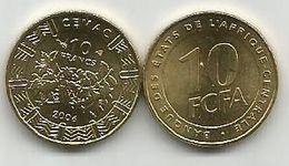 Banque Des Etats De L`Afrique Centrale Bank Of Central African States 10  Francs  2006. UNC FCFA - Münzen