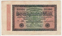 Reichsbanknote 20000 Mark ZwanzigTausend 1923 Deutschland - [ 3] 1918-1933 : República De Weimar