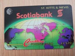 ST KITTS & NEVIS   GPT CARD $20,-   13CSKA     NO STK-13A  SCOTIABANK       Fine Used Card  **2351** - St. Kitts & Nevis