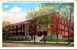Wisconsin Green Bay Bellin Memorial Hospital And Training School For Nurses 1951 - Green Bay
