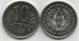 Uzbekistan 10 Sum 1997. High Grade KM#10 - Uzbekistan