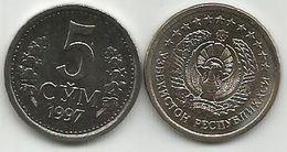 Uzbekistan 5 Som Sum 1997. High Grade KM#9 - Uzbekistan