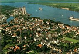 Ansichtskarte Brake (Unterweser) Luftbild Hafen Silo 1972 - Brake