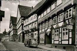 Osterode (Harz) Strassen Partie Rollberg, VW Bully Kastenwagen Vor Geschäft 1959 - Osterode