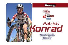 CARTE CYCLISME PATRICK KONRAD TEAM RADLAN TIROL 2010 - Ciclismo