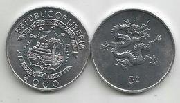 Liberia 5 Cents 2000. UNC KM#474 - Liberia