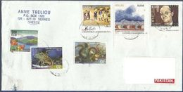 GREECE POSTAL USED AIRMAIL COVER TO PAKISTAN - Airmail