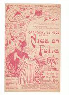 PARTITION NICE EN FOLIE CARNAVAL DE NICE 1925 Editions H. MARTIN - Partitions Musicales Anciennes