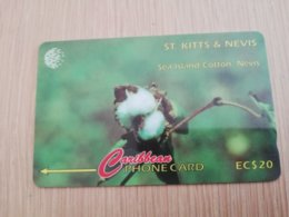 ST KITTS & NEVIS  GPT CARD $20,-  77CSKA  NO STK-77A  SEA ISLAND COTTON NEVIS     Fine Used Card  **2361** - Saint Kitts & Nevis