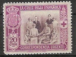 España 0338 * Cruz Roja. 1926. Charnela - Neufs