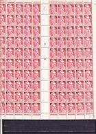 FRANCE 827 FEUILLE COMPLETE DE 100 DONC VARIETES AVEC MECHES CROISEES LUXE NEUF SANS CHARNIERE - 1945-54 Marianne De Gandon