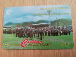 ST KITTS & NEVIS  GPT CARD $20,-  95CSKA  NO STK-95A  DEFENCE FORCE KITTS/NEVIS   Fine Used Card  **2363** - Saint Kitts & Nevis