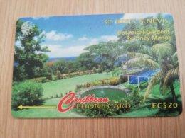 ST KITTS & NEVIS  GPT CARD $20,-  146CSKA  NO STK-146A  BOTANICAL GARDEN ROMNEY MANOR   Fine Used Card  **2364** - St. Kitts & Nevis