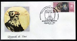 COLOMBIA- KOLUMBIEN- 2020 FDC/SPD. DA VINCI 500 YEARS 1519-2019- SILK STAMP - Colombia