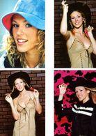 Fan Club De LORIE Chanteuse, Panini, Avec Lses Chapeaux, N° 11, 21, 7 Et 12, Album, Lot De 4 Photos - Fotos