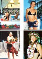 Fan Club De LORIE Chanteuse, Panini, En Vacances Sous Les Cocotiers,  N° 67, 65, 66 Et 64, Album, Lot De 4 Photos - Fotos