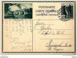 """22-76 - Entier Postal Avec Illustration """"Solothurn"""" Cachet D'Altstätten 1931 - Attention Léger Pli En Haut à Gauche - Entiers Postaux"""