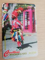 ST KITTS & NEVIS  GPT CARD $20,-  197CSKA  NO STK-197A  CARNIVAL AT CHRISTMAS 5  Fine Used Card  **2371** - Saint Kitts & Nevis