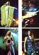 Fan Club De LORIE Chanteuse, Panini, Sur Scène,  N° 48, 50, 46 Et 51, Album, Lot De 4 Photos - Fotos