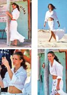 Fan Club De LORIE Chanteuse, Panini, Sur La Plage,  N° 40, 43,42 Et 44, Album, Lot De 4 Photos - Fotos
