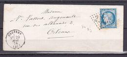 D171/ CERES N° 60  OBL SUR LETTRE - 1871-1875 Ceres