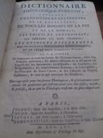 Dictionnaire Théologique-portatif Didot 1756 - Dizionari