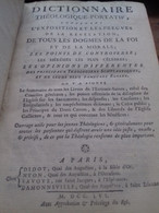Dictionnaire Théologique-portatif Didot 1756 - Dictionaries