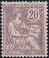 France   .   Yvert   .    126  (2 Scans)      .   (*)     .  Pas De Gomme    .    /    .   No Gum - Ungebraucht