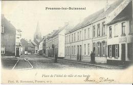 Frasnes-lez-Buissenal  Place De L'hôtel De Ville Et Rue Haute - Frasnes-lez-Anvaing