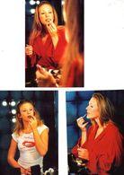 Fan Club De LORIE Chanteuse, Panini, Se Maquille,  N° 71, 56, 68, Album, Lot De 3 Photos - Foto's