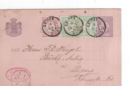 Leiden - 4 OCT 82 - Leipzig Van Leeuwen - Bijfrankering - Postal History