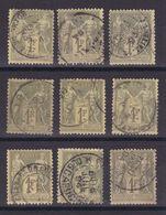 D172/ LOT SAGE N° 82 OBL - 1876-1898 Sage (Type II)