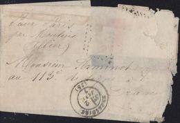 Guerre 1870 Siège Boule De Moulins Pr Militaire 113e Ligne à Drancy CAD T17 Bressuire Mention Pour Paris Par Moulins - Guerra De 1870