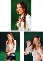 Fan Club De LORIE Chanteuse, Panini, Tenue Hippie,  N° 34, 15, 35, Album, Lot De 3 Photos - Foto's
