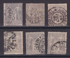 D172/ LOT SAGE N° 87 CACHET JOURNAUX - 1876-1898 Sage (Type II)