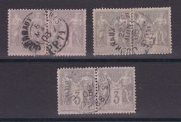 D172/ LOT SAGE N° 87 CACHET JOURNAUX / 3 PAIRES - 1876-1898 Sage (Type II)