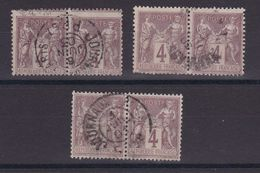 D173/ LOT SAGE N° 88 CACHET JOURNAUX / 3 PAIRES - 1876-1898 Sage (Type II)