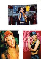 Fan Club De LORIE Chanteuse, Panini, Ses Casquettes, ,  N° 41, 9, Album, Lot De 3 Photos - Foto's